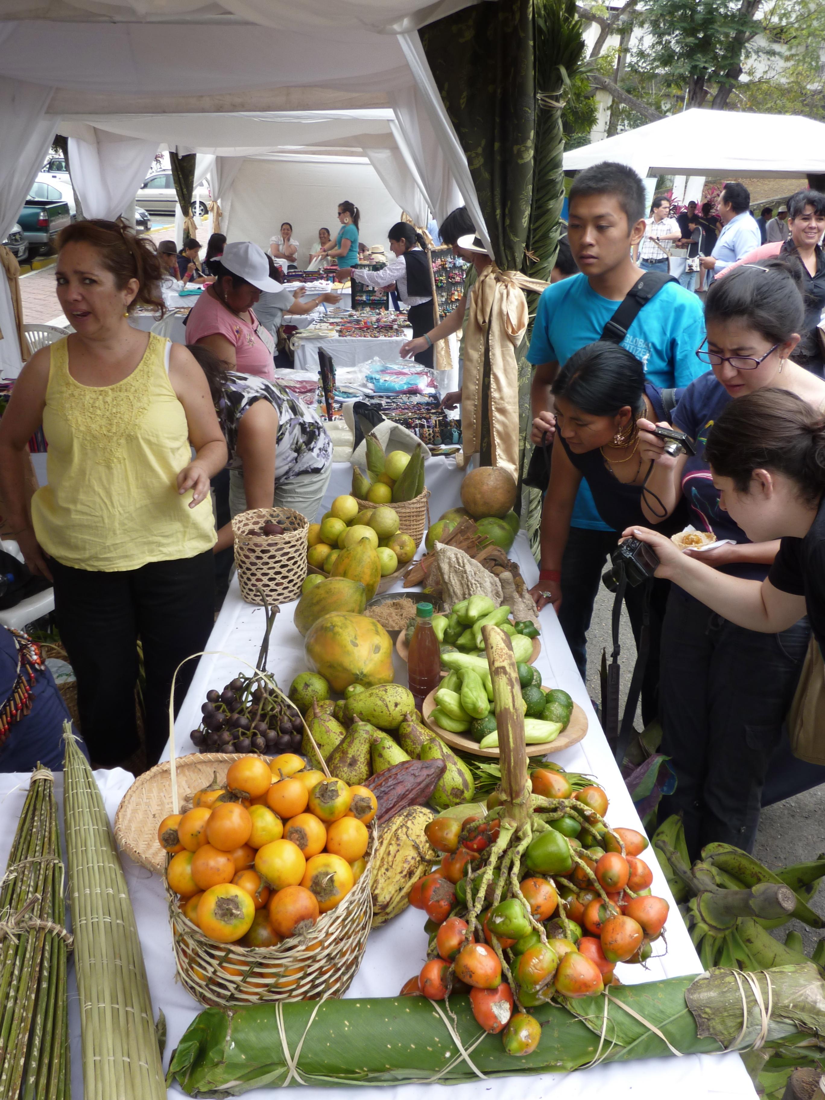 Market of organic goods